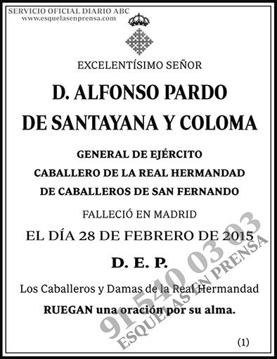 Alfonso Pardo de Santayana y Coloma
